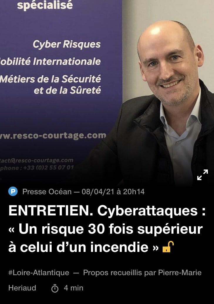 RESCO-Courtage-courtier-specialise-assurance-cyberattaques-Ouest-France Assurance Cyberattaques : « Un risque 30 fois supérieur à celui d'un incendie »
